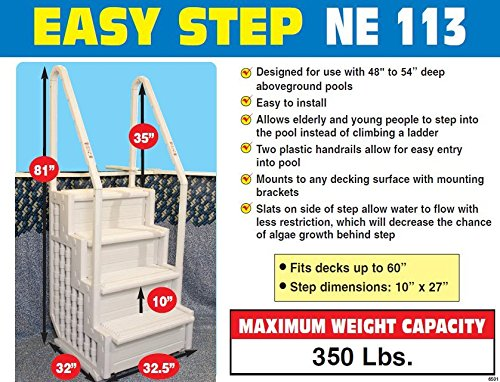 Blue Wave Easy Pool Step for Above Ground Swimming Pools details