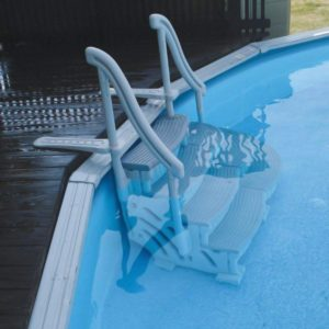 Confer Above Ground Swimming Pool Curve Step System in pool