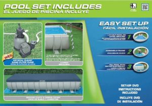 Intex 24ft X 12ft X 52in Ultra Frame Pool Set with Sand Filter Pump, Ladder, Ground Cloth & Pool Cover