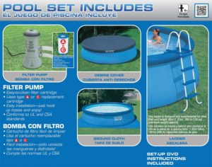 Intex Easy Set Pool Set with Filter Pump Includes
