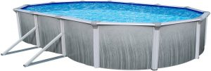 "Blue Wave Products Martinique 52"" Tall Steel Above Ground Pool Kit Plus Starter Package (15' x 30' Oval)"