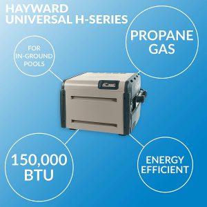 Hayward W3H150FDP Universal H-Series 150,000 BTU Pool and Spa Heater