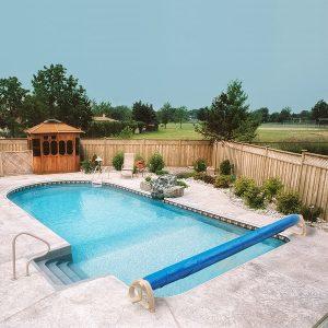 Aqua Splash In Ground Swimming Pool Solar Cover Blanket Reel