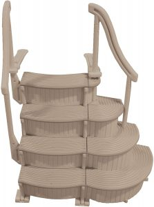 Confer CCX-ADD 3 Step Above Ground Swimming Pool Entry Ladder Stair Add On Only, Beige