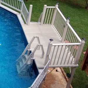 Vinyl Works Above Ground Swimming Pool Resin Deck Kit
