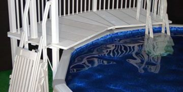 Vinyl Works Above Ground Swimming Pool Resin Deck Kit|Vinyl Works Canada