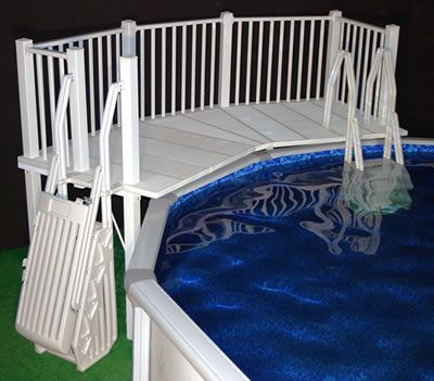 Vinyl Works Above Ground Swimming Pool Resin Deck Kit|Vinyl Works Canada
