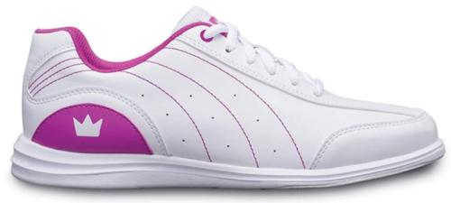 Brunswick Girls Mystic White/Fuchsia Bowling Shoes